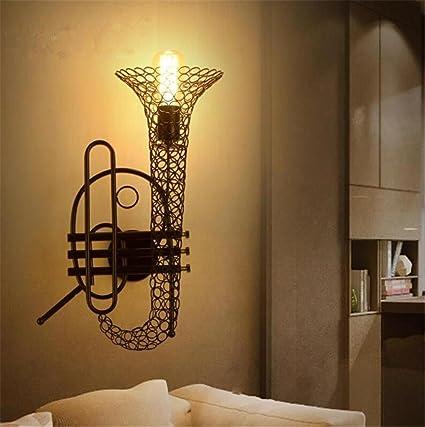 Atmko®Apliques de Pared Luz de Pared Industrial Vintage E27 Sola Cabeza Iluminación LOFT Estilo