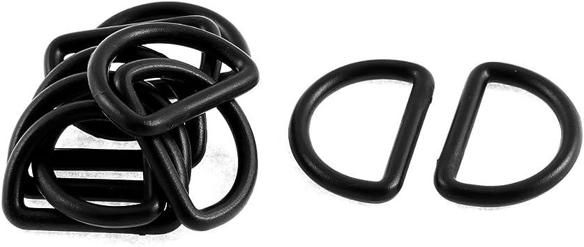 sourcing map 15St/ück Karabiner Ring Kunststoff Rucksack Handtasche D Ring Haken D geformte Schnalle 19mm schwarz