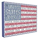 "The Kids Room by Stupell United States of America Flag Typography Canvas Art, 16"" x 20"""