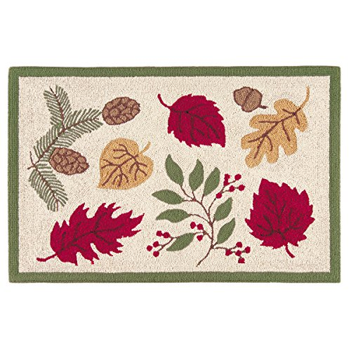 (C&F Home Hooked Tossed Leaves Fall Rug,)