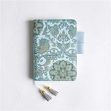 Bloc De Notas Viaje Aventura Revista De Tapa Dura Cuaderno Cuaderno De PapeleríA Yingfan Cuaderno De La Serie Blue Flower (Paquete De 2) 120 * 167 Mm: Amazon.es: Oficina y papelería
