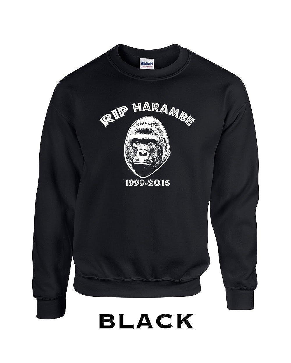 324 RIP Harambe Funny Adult Crew Sweatshirt