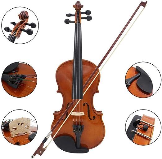 LOIKHGV Violines- Violín de violín acústico Natural de tamaño ...
