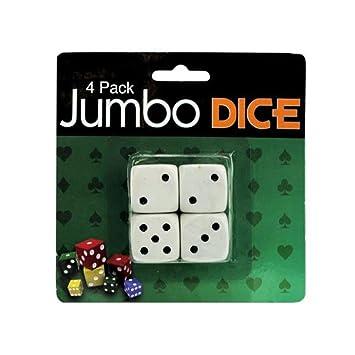 4 Pack Jumbo Dice