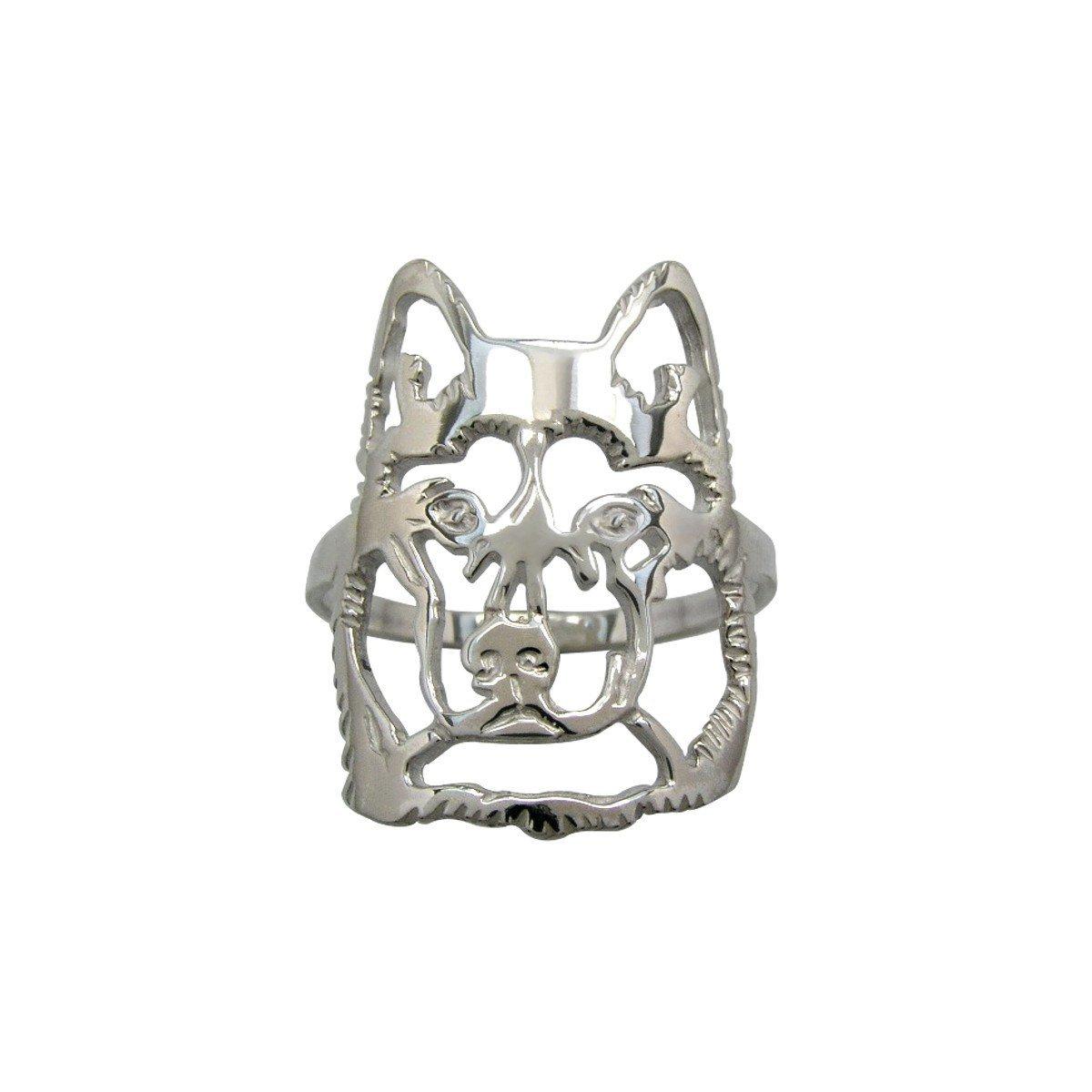 H&H Jewellery Husky de Sibrie bague d'argent - 60; Bigouterie d'argent - Bague (titre 925/1000) 7000929