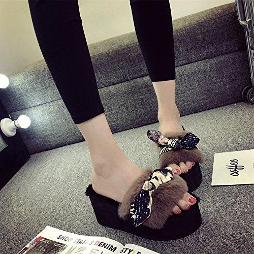 LaxBa Femmes Hommes Chaussures Slipper antiglisse intérieur 36 Kaki