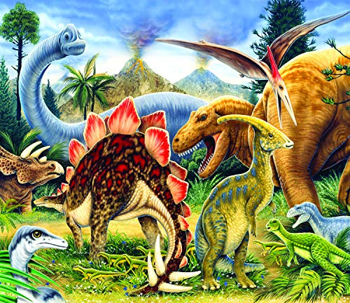 Sunsout 2019 Dinosaur World by Artist Howard Robinson 200 Piece Dinosaurs Jigsaw Puzzle