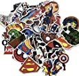 Rapidotzz Super Heroes PVC Stickers for Water Bottles and Laptops -50 Pieces