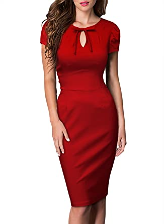 bb2eedb11c0fb MISSMAY Women's Vintage 1940's Career Bodycon Sexy Cutout Pencil ...
