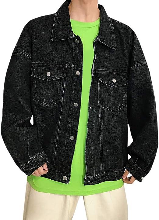 [Mirroryou(ミラーユー)] デニムジャケット メンズ 長袖 ジージャン カジュアル アウター ファッション ジーンズ Gジャン 春秋 大きいサイズ