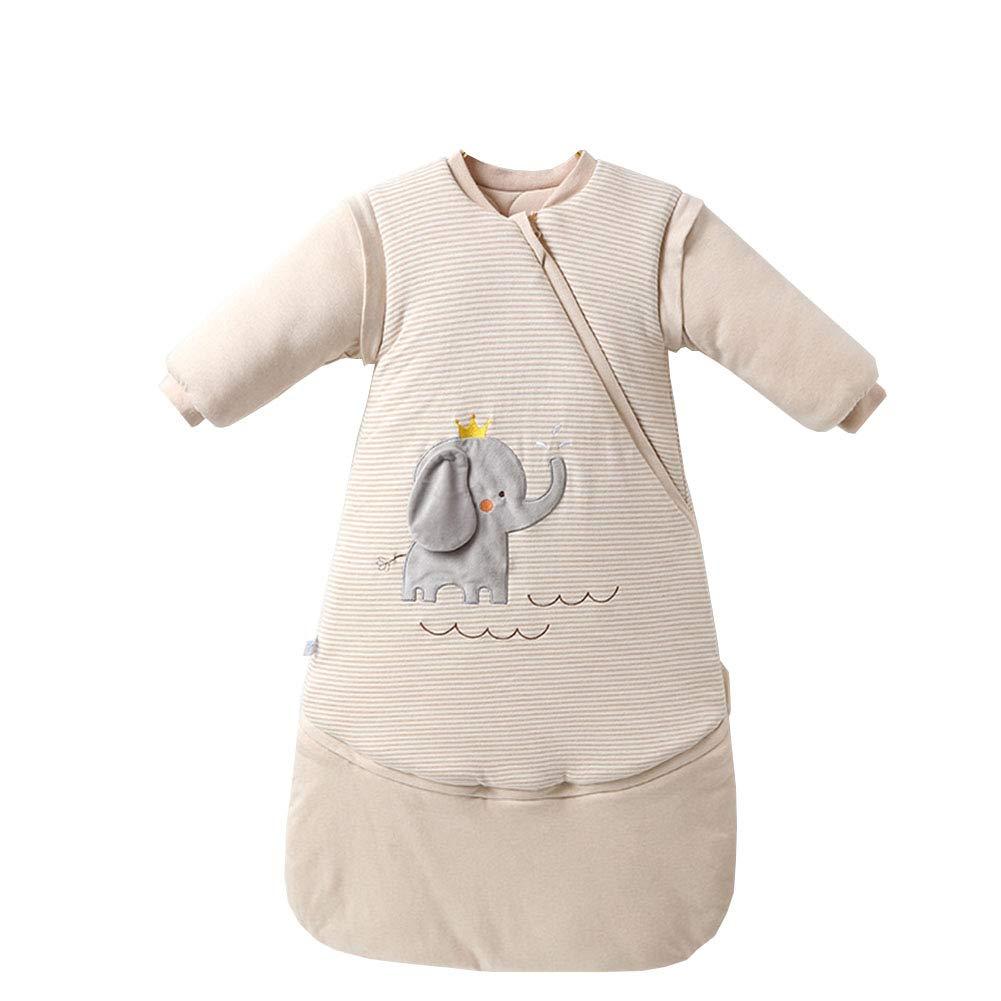 /Écureuil BabyFat Sac B/éb/é De Couchage//Coton Gigoteuse demmaillotage Manche Longue Amovible Nouveau-n/é avec Fille Gar/çon Pyjama multi-fonction Beige 0-2T Beige