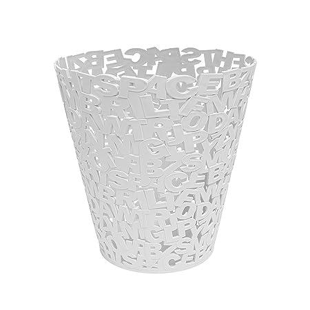 Balvi Papelera Letters Color Blanco Plástico 30cm: Amazon.es: Hogar