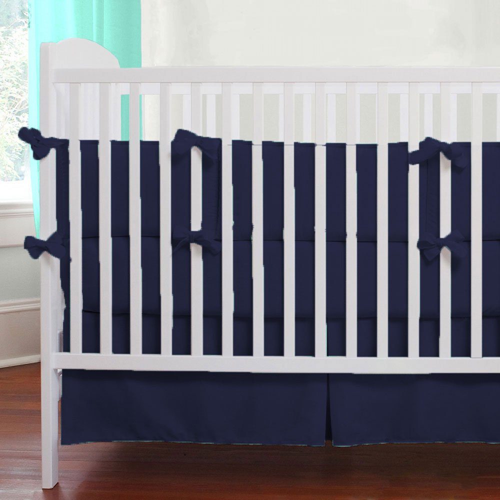 Unisex Nursery Baby Bedding Cradle Bumper Solid Pattern 500 TC Egyptian Cotton Moss,Cradle