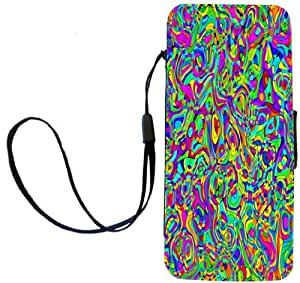 Rikki Knight Chromatic Rainbow Kaleidoscope Flip Wallet Case with Magnetic Flap for Apple Apple iPhone 5 and 5s by ruishername