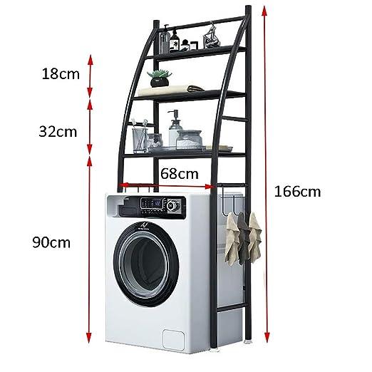 Estante de la lavadora Estante del baño del piso, estante de la ...