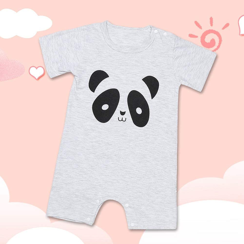 66cm Baby Bodysuit Short Sleeve Romper Cartoon Cotton Romper Summer Jumpsuit Infant Kids Clothes for Ages 0~12M