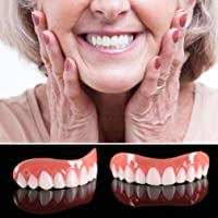 Instant Smile Comfort Fit Teeth Top Cosmetic Veneer One Size Fits All - Bescita (White)