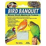 Zoo Med 26357 Bird Banquet Mineral Block Mealworm Formula, 1 oz