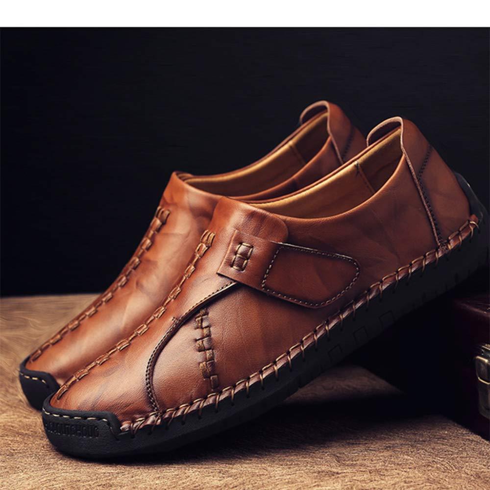 Mocasines Planos Ocasionales Para Hombres Hombres Hombres Costura A Mano Zapatos De Conducción De Moda Mocasines Para Hombres De Cuero Zapatos Sin Cordones Para Hombres 10c000