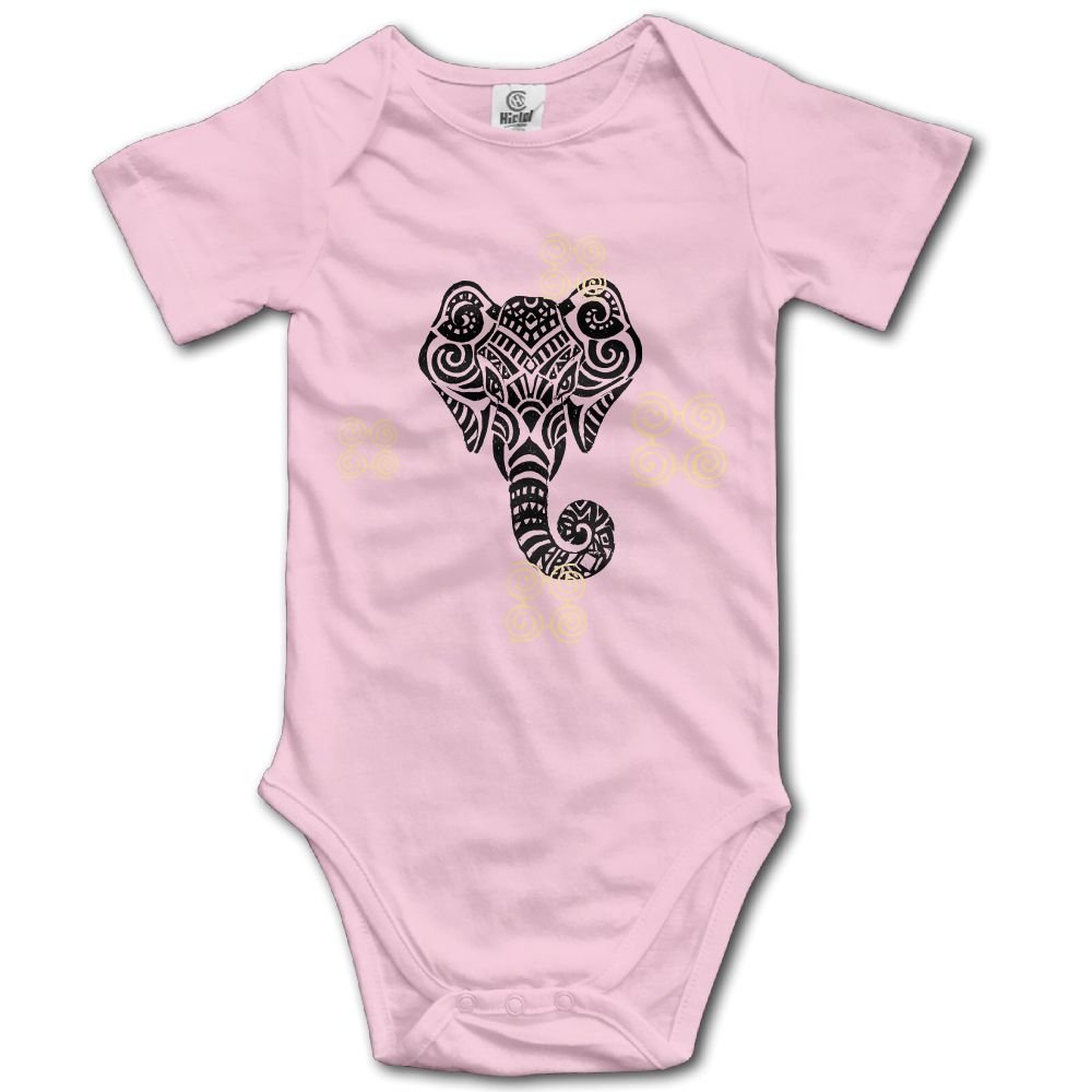 Baby Bodysuit Elephant Head Short Sleeves Triangle Romper Bodysuit Outfits Infant Toddler Clothes