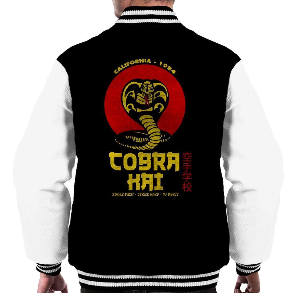 YBSJDQ Retro Cobra Kai Snake Logo Mens Varsity Jacket