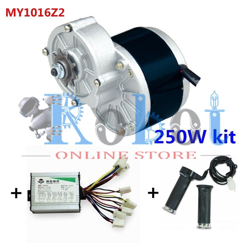 Buy 24V Motor MY1016 250Wz2 Motor Controller Twist Throttle DIY ...