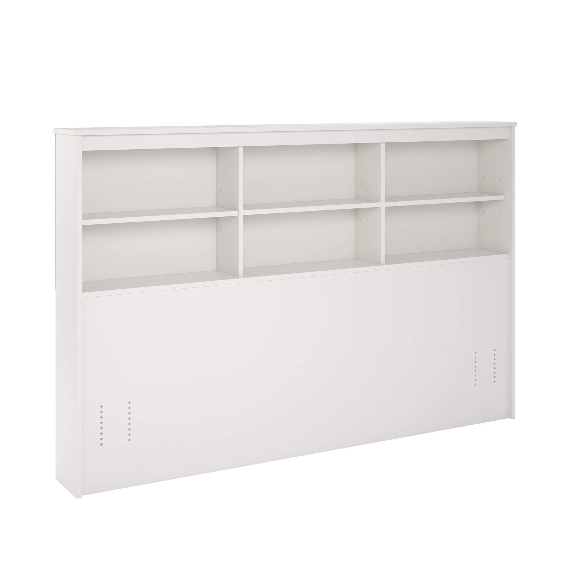 REALROOMS Lacey Full/Queen Storage Headboard, White