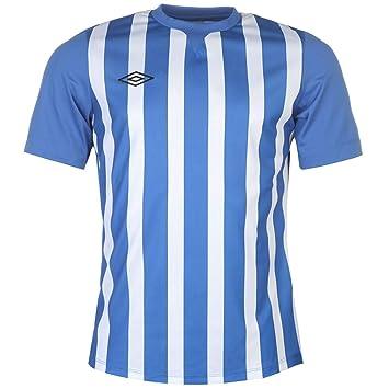 Umbro Stripe Training Jersey Mens Royal White Football Soccer Top T-Shirt  Shirt Small 492f91353