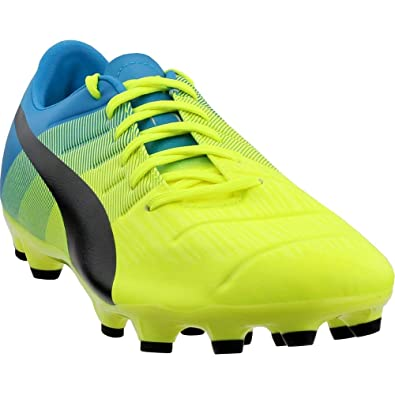 c4f4c586fbe6 PUMA Mens Evopower 3.3 Atrificial Ground Cleats Soccer Athletic Cleats  Yellow