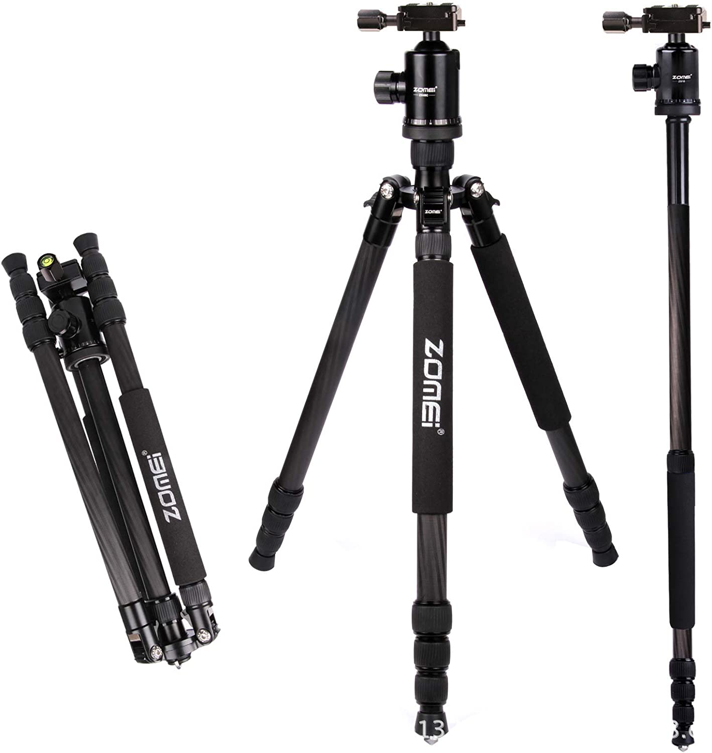 68 Carbon Fiber Camera Tripod Monopod with 360 Degree Ball Head,1//4 inch Quick Shoe Plate,Bag for DSLR Camera,Professional Tripod,Load up to 26 pounds,Silver