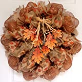 Cascading Fall Leaves Harvest Deco Mesh Wreath Review