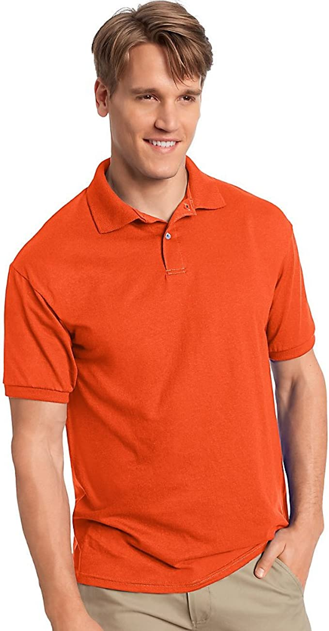 Cotton-Blend Jersey Polo_Orange_2XL para hombre: Amazon.es ...