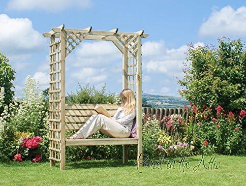 Arbour Garden asiento banco de esquina metal works Pergola diseño ...