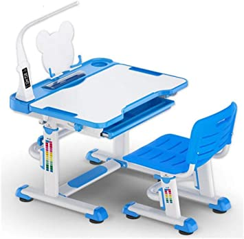 QKDSA Mesa de Estudio de Mesa para niños Set de Mesa inclinable y ...