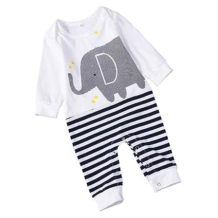 Refaxi Mameluco Del Bebé Mangas Largas Algodón CóModo Bebé Pijamas De Dibujos Animados Recién Nacidos Bebé