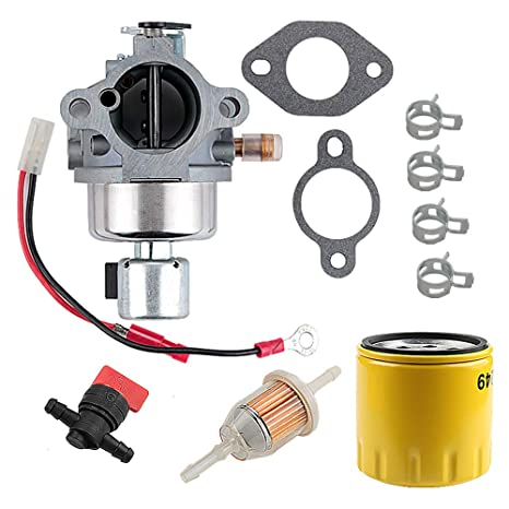 Harbot 12 853 118-S 12 853 104-S Carburetor for Kohler CV490 CV492 CV491  Command Pro 17HP 18HP Engines with 52 050 02-S Oil Filter Fuel Filter Gasket