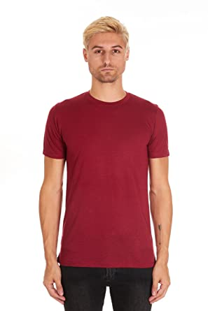 03ad68ac1 Pacific Men's Fitted Soft Rayon Performance Short-Sleeve Crew-Neck T-Shirt (