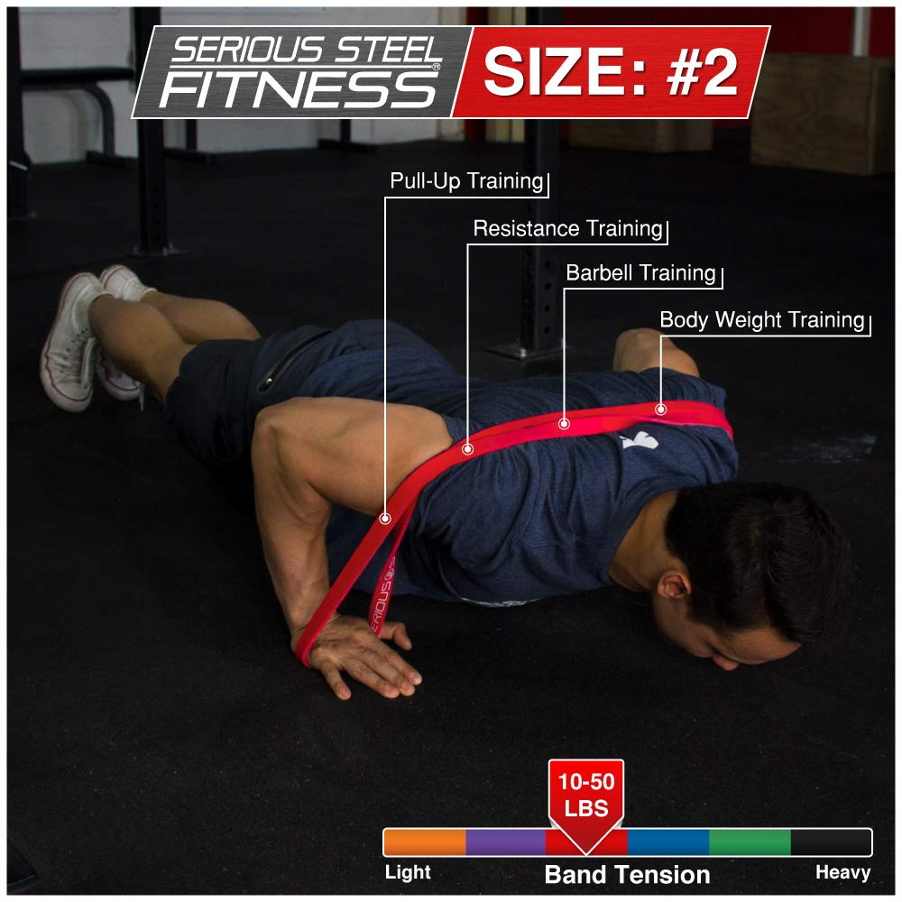 Serious Steel Fitness Red - #2 Monster Mini Pull-up Assist & Resistance Band (Size: 13/16'' x 4.5mm Resistance: 10-50lbs) by Serious Steel Fitness (Image #4)