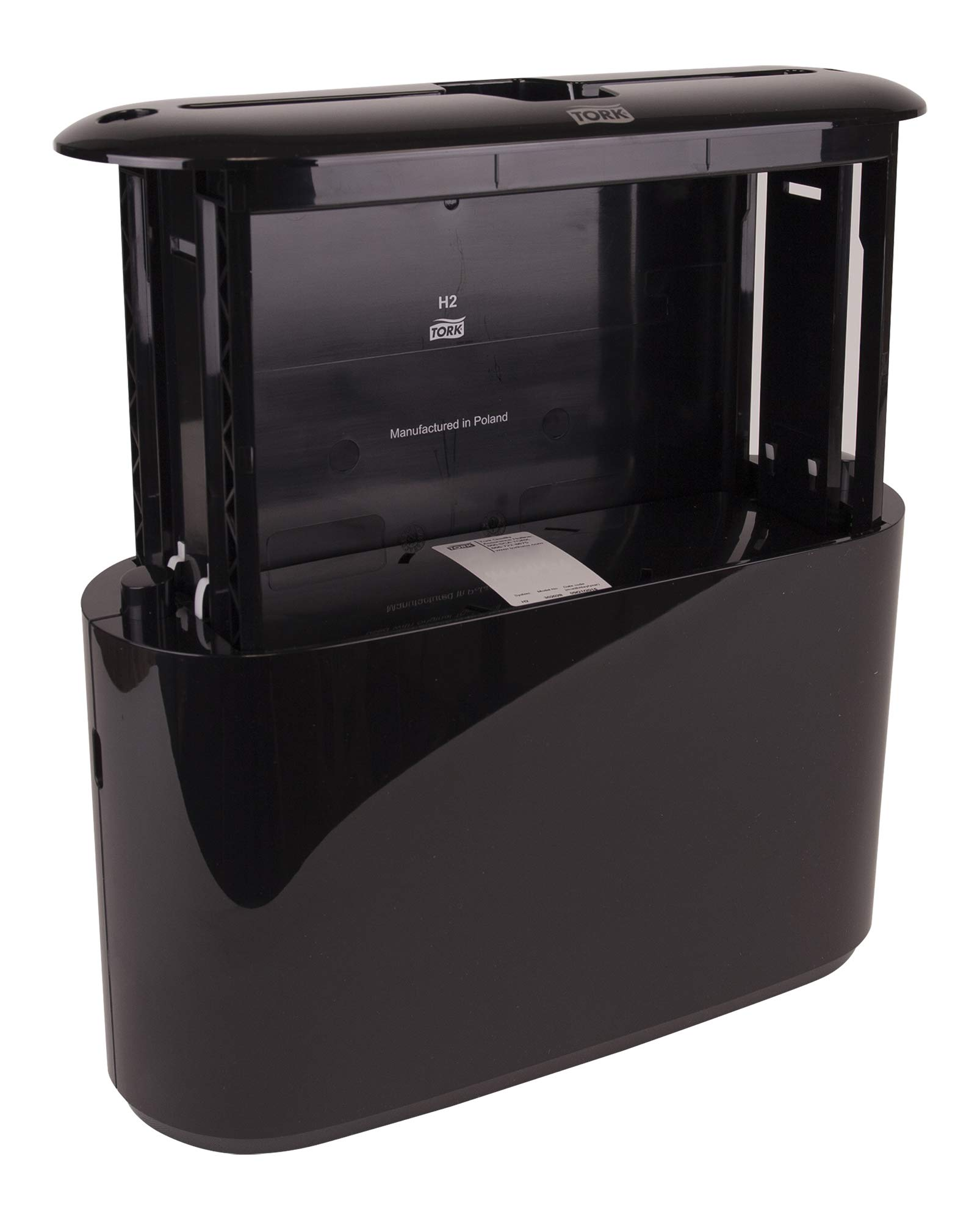 Tork Xpress 302028 Countertop Multifold Hand Towel Dispenser, Plastic, 7.92'' Height x 12.68'' Width x 4.56'' Depth, Black (Case of 1) For use with Tork MB550A, MB640, MB540A by Tork (Image #5)