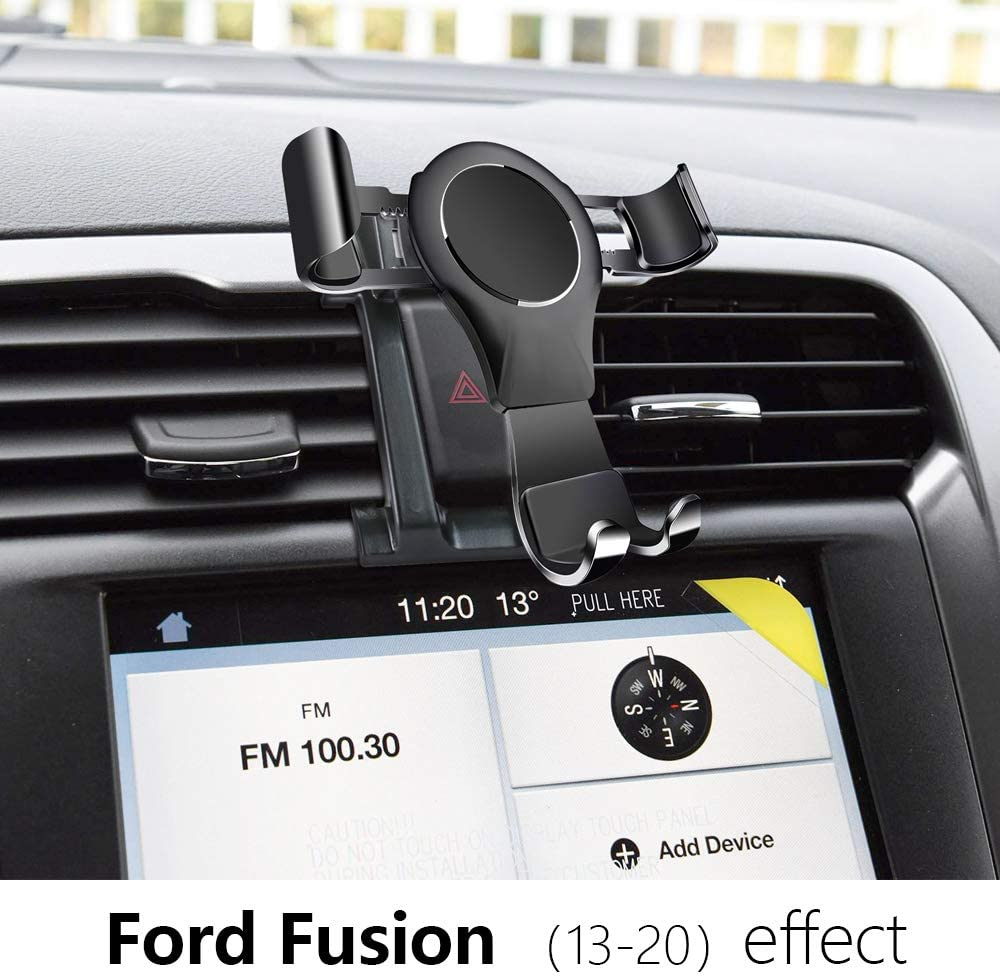 LUNQIN Car Phone Holder for Ford Fusion 2013-2020 Auto Accessories Navigation Bracket Interior Decoration Mobile Cell Phone Mount