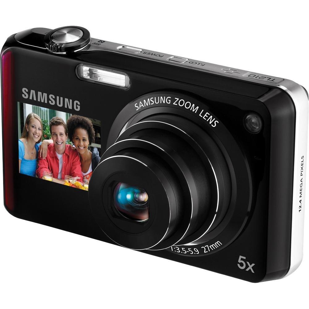 Samsung tl210デュアルビュー12.4 MPデジタルカメラwith 5 x光学ズームレッド   B0035EELIU