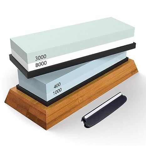 Compra Mejor afilador de cuchillas de cocina de piedra, Kit ...