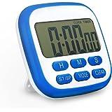 Timer Cucina Topop Digital Timer Elettrico Fitness Timer Con Allarme Forte e Ampio Display LCD Orologio Digitale Secondo Timer da Cucina