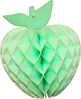 product image for 3-Pack 7 Inch Honeycomb Paper Apple Decoration, Mint