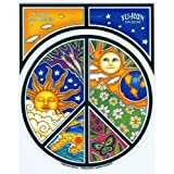 "Dan Morris - Peace Symbol Window Sticker Decal 4.75"" x 4.75"" Vinyl Die-Cut Weather Resistant, Long Lasting for Any Surface"
