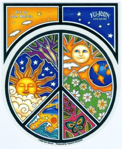 Dan Morris Peace Window Sticker product image