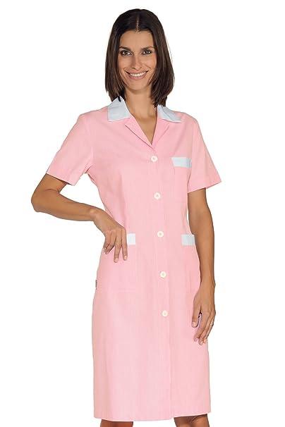 Isacco - Bata de trabajo Positano rayas rosa y blanco 100% algodón: Amazon.es: Industria, empresas y ciencia
