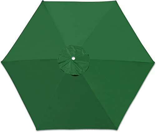 Strong Camel Replacement Patio Umbrella Canopy Cover for 8.2ft 6 Ribs Umbrella Taupe Canopy ONLY Green