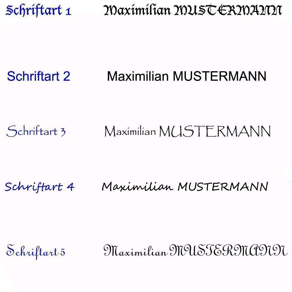 Lernuhr mit Fu/ßball Motiv mit Name lautlos//Lernuhr f/ür Kinder mit Name//Wanduhr//Kinderuhr//Fussball//Schriftwahl f/ür Name