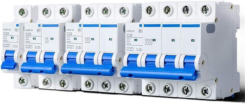 GFF Interruptor automático Protección Interruptor Total Abierto Hogar Estuche de plástico Interruptor automático en Miniatura 10A 1P, 20A: Amazon.es: Electrónica